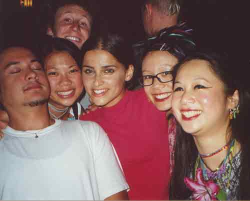 Nelly Furtado, Jose and Mike (Incubus), Denver aftershow party, AREA:ONE tour